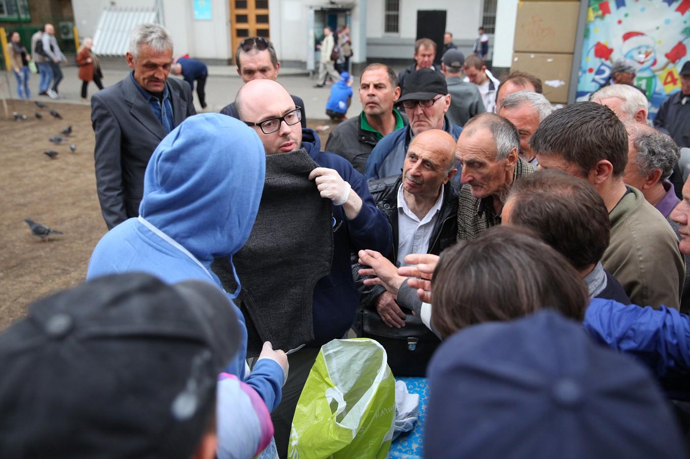 Помощь бездомным людям в Москве
