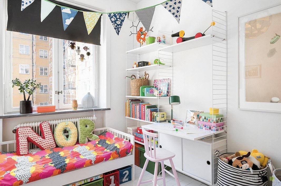 Обустройство детской комнаты – палатки и корзины для игрушек